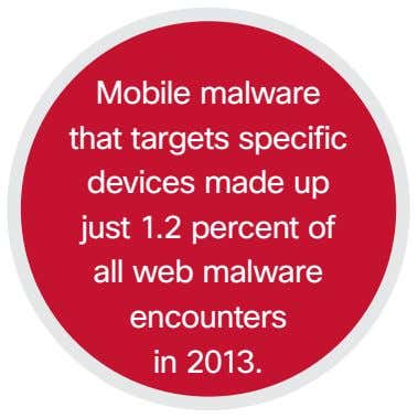 Mobile malware that targets specific devices made up just 1.2 percent of all web malware