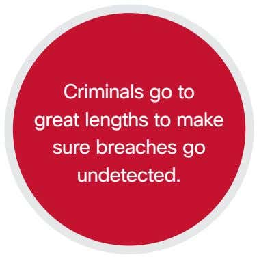 Criminals go to great lengths to make sure breaches go undetected.