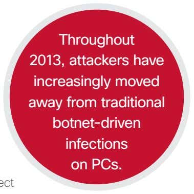 Throughout 2013, attackers have increasingly moved away from traditional botnet-driven infections on PCs.