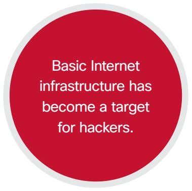 Basic Internet infrastructure has become a target for hackers.