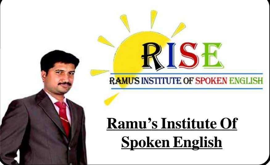 Ramu's Institute Of Spoken English