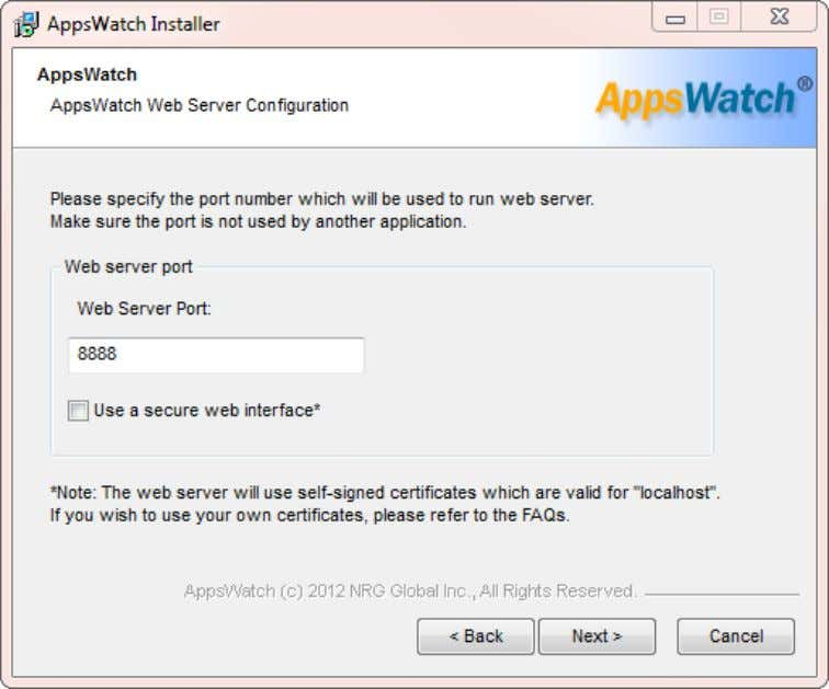 "User Guide: AppsWatch The AppsWatch Base can be opened in a web browser. The ""Web Server"