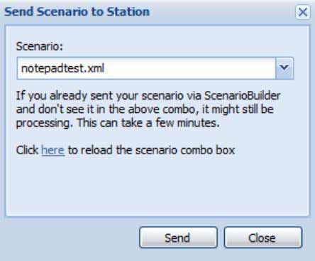 "User Guide: AppsWatch A message pops up stating ""Scenario successfully queued for sending"" ; Click ""OK"""