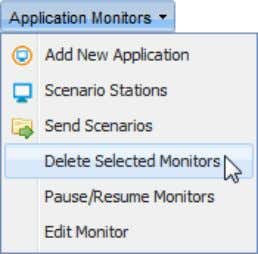"Monitor"" from the ""Application Monitors"" menu; ""Confirm"" window pops up ; Click ""Yes"" to complete"