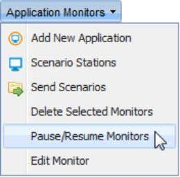 "Monitors"" from the ""Application Monitors"" menu; ""Success"" window pops up; Click ""OK""; © 2012 NRG"