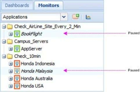 User Guide: AppsWatch RESUME AN APPLICATION MONITOR Resume a Monitor by either of the following methods: