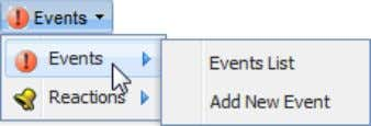 "select ""Add New Event"" from the ""Events"" menu; or click the ""Add New Event"" button at"