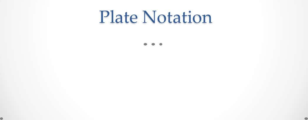 Plate Notation