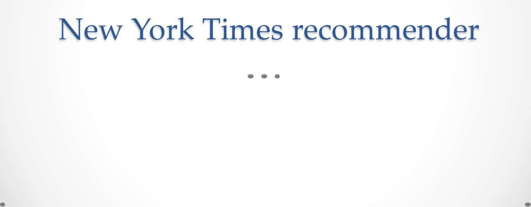 New York Times recommender