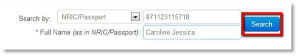 Click on the blue Search button to retrieve your Yes ID. In the 1BestariNet Profile section