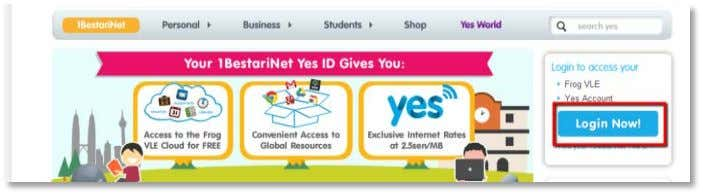 will display a page similar to your Frog VLE login page. Enter your Yes ID and