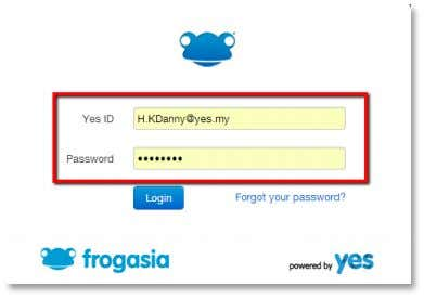 page. Enter your Yes ID and password in the login box. Click the blue Login button