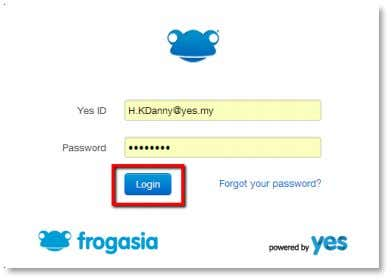 the blue Login button to log into the 1BestariNet Portal. If this is your first time