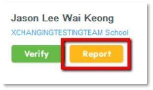 you can report this to their school admin to rectify. To report a discrepancy, click on
