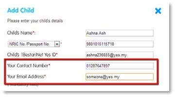 your contact number and email address into the text boxes. When complete click the blue Submit
