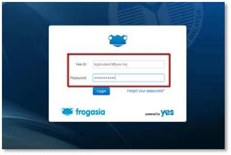Button. This will display a page similar to your Frog VLE login page. Enter your Yes