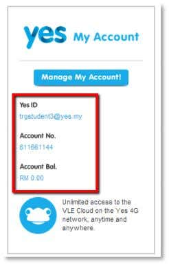 section, a general summary of your account is displayed. Click on the blue Manage My Account!