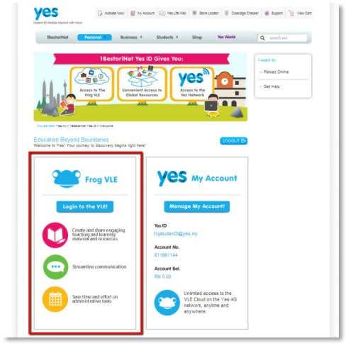 Frog VLE simply close the My Account tab in your browser. After closing the tab, scroll
