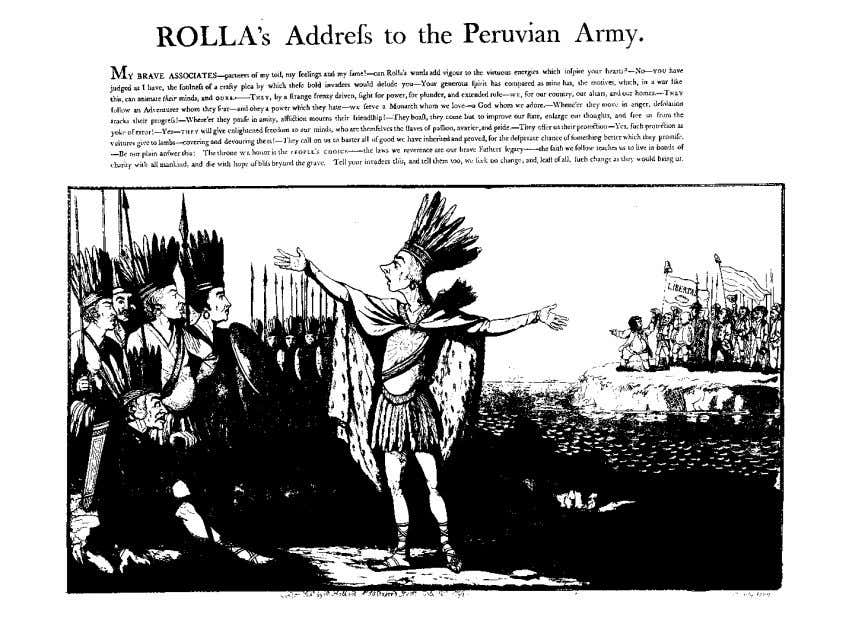 caricature, cultural politics, and the stage 621 figure 5. Rolla's Address to the Peruvian Army (1799;