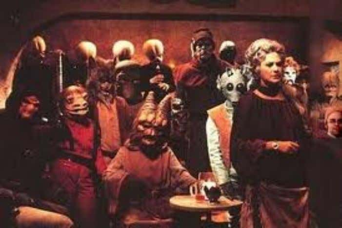 contains millions of different life forms, the famous bar scene in the movie Star Wars may