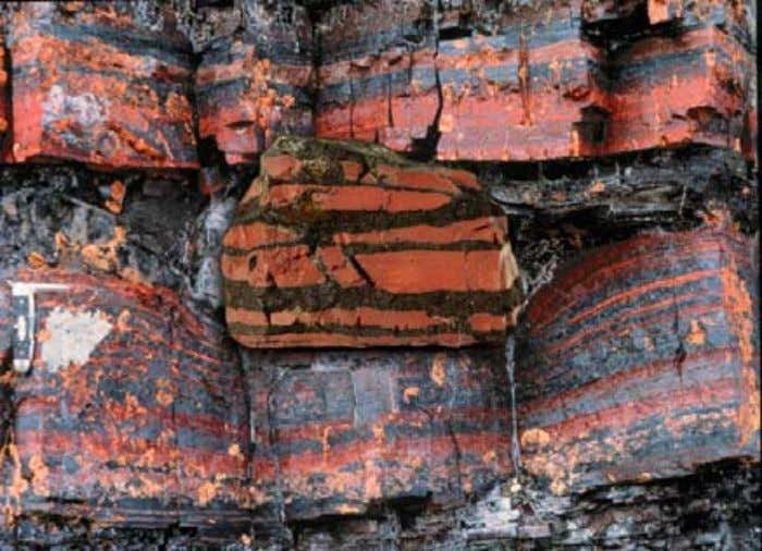 Banded Iron Formations (BIFs), seen above in overlay, are found in every part of the