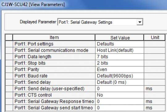 4 The setting items of Port1: Serial