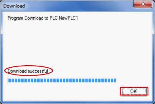 "dialog box on the right is displayed (stating ""Download successful"") when the transfer is completed. Click"