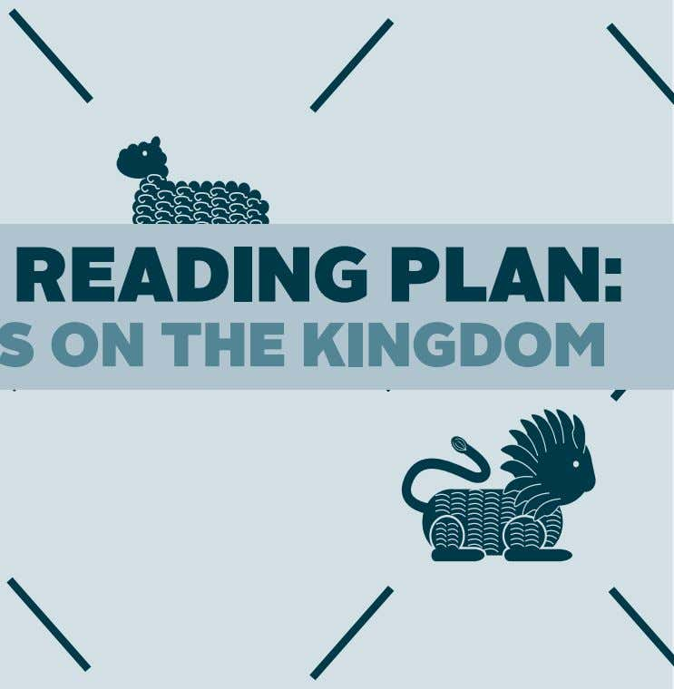 BiBle Reading Plan: 40 days on the kingdom