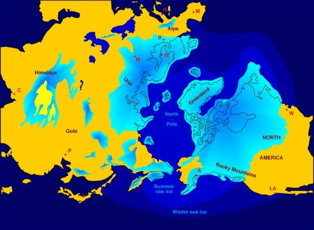 Extent of former Northern ice sheets