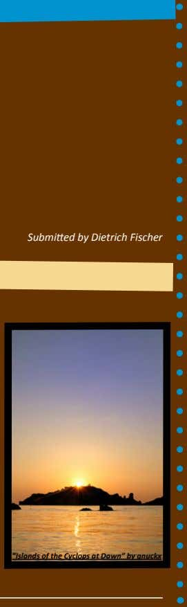 "Submitted by Dietrich Fischer ""Islands of the Cyclops at Dawn"" by gnuckx"