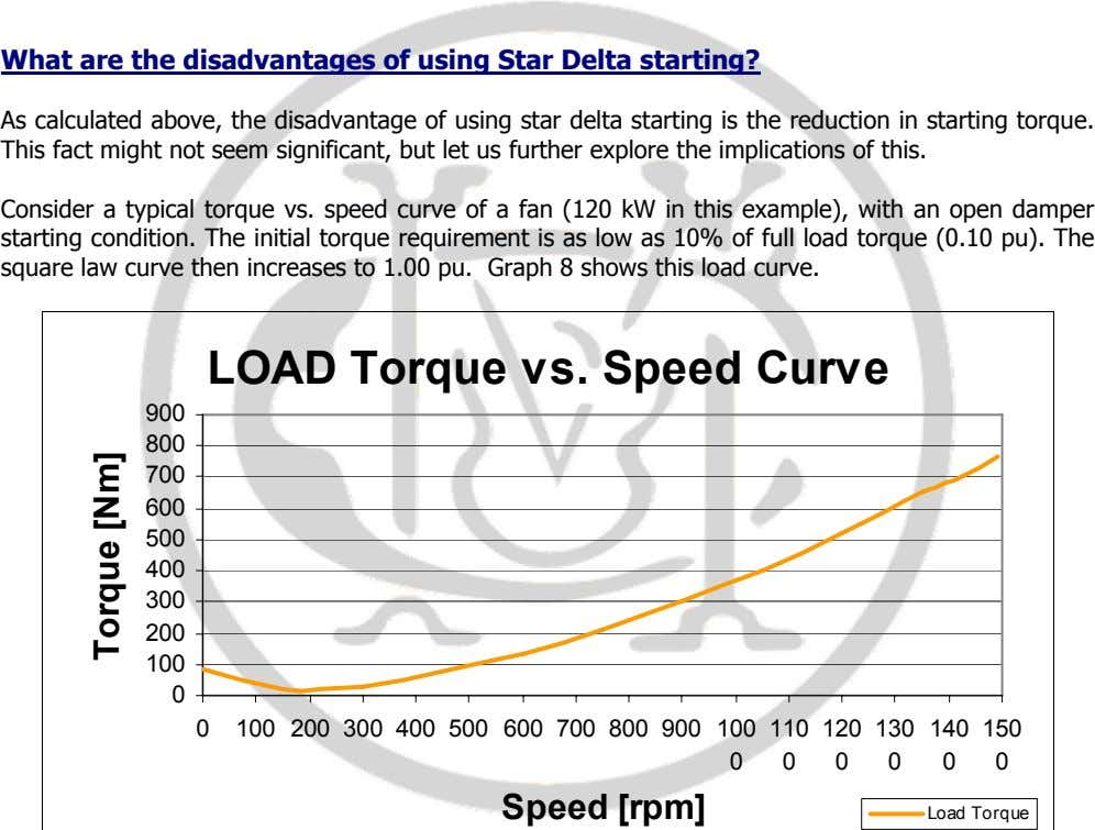 What are the disadvantages of using Star Delta starting? As calculated above, the disadvantage of