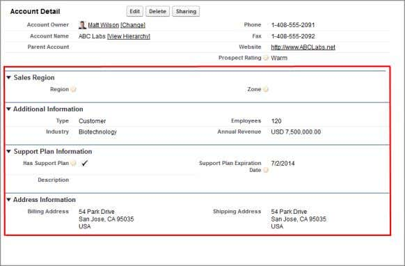 Accounts object, your related lists might look like this: Salesforce delivers the application with some standard