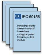 IEC 60156 Insulating liquids Determination of breakdown voltage at power frequency – test method