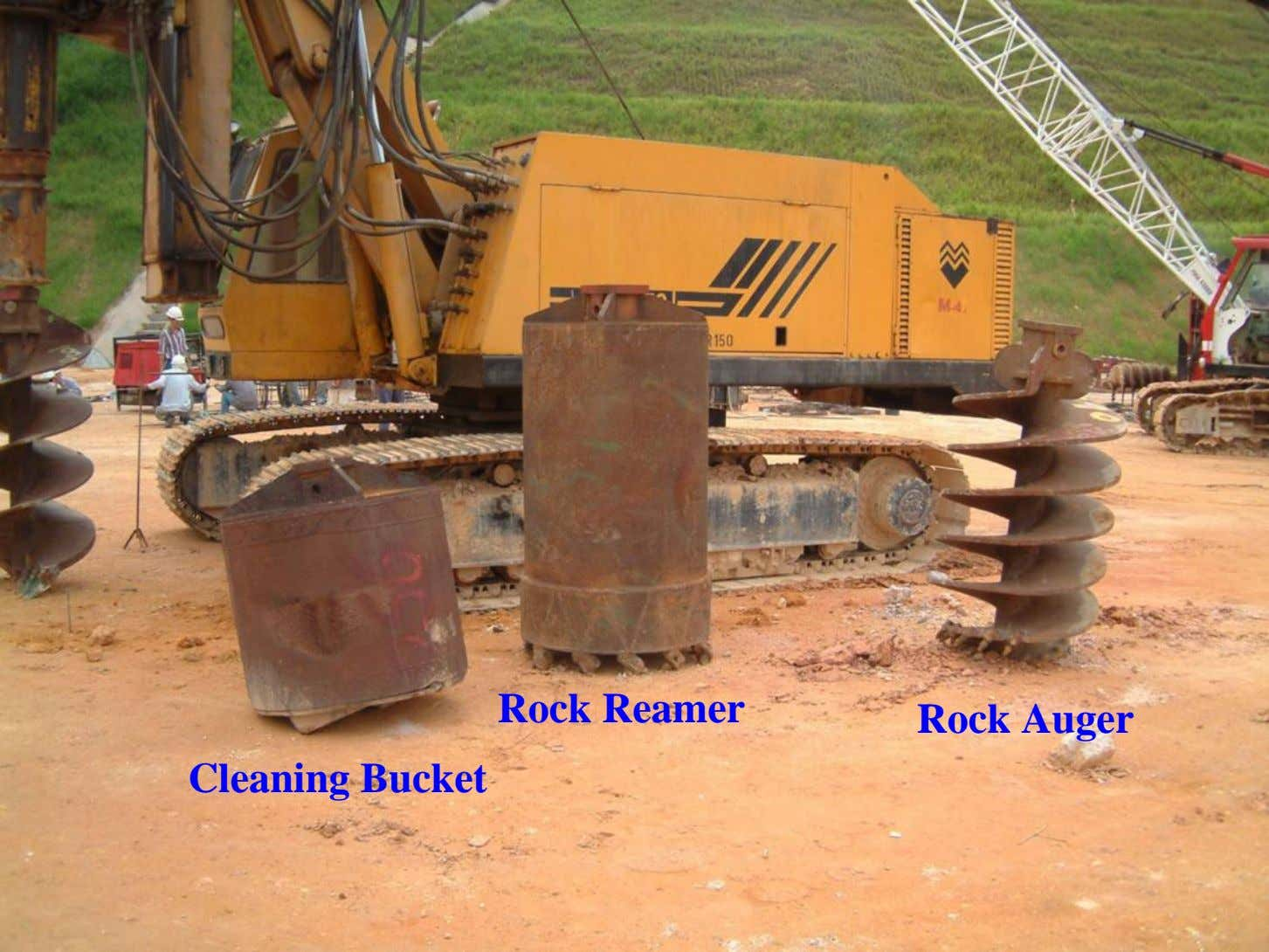 Rock Reamer Rock Auger Cleaning Bucket