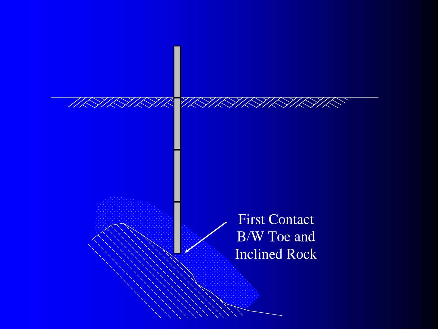 First Contact B/W Toe and Inclined Rock
