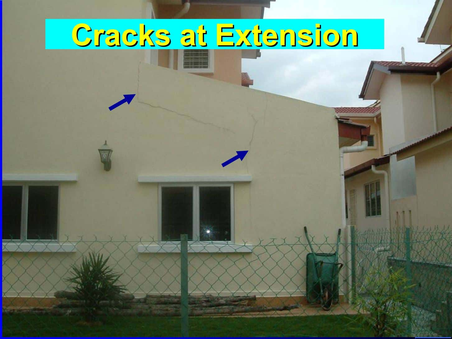 CracksCracks atat ExtensionExtension