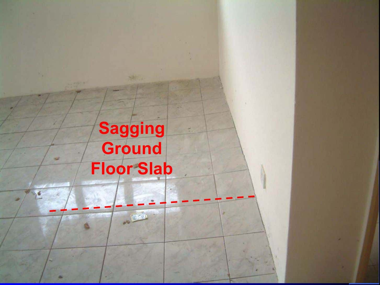 Sagging Ground Floor Slab