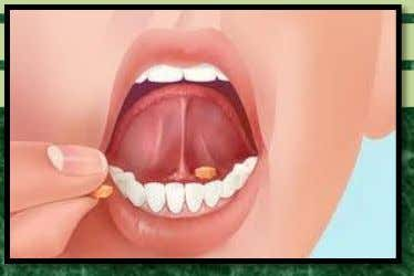 the tongue through the oral mucosa as well but they are designed to dissolve promptly and