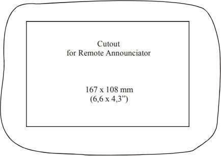 "Cutout for Remote Announciator 167 x 108 mm (6,6 x 4,3"")"