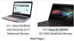84%AsusZenBook UX310UQ­GL011T 84%AsusGL702VM­ NotebookReview GC102DNotebookReview NextPage⟩