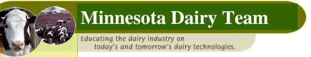 Minnesota Dairy Team