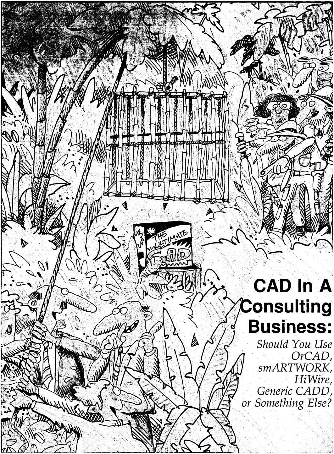 CAD In A onsulting Business: ShouldYou Use OrCAD, smARTWORK, , Hi Wire, Generic CADD, or