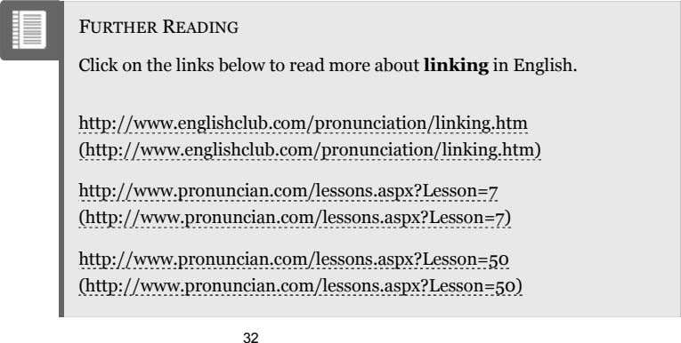 FURTHER READING Click on the links below to read more about linking in English.