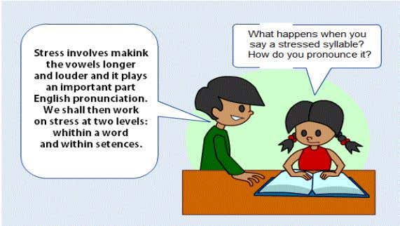 mark in the word, there is a stressed syllable: PORT . Word Stress When a word