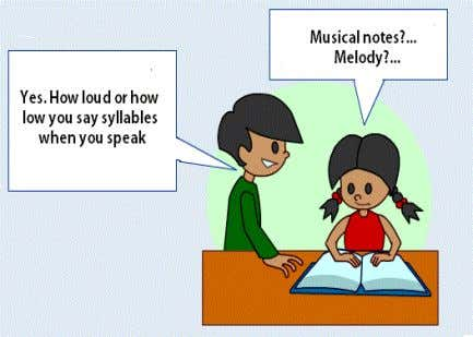 and it is often referred to as the melody of language. If you listen to someone