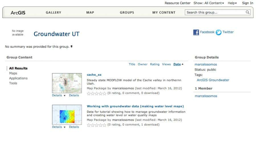 Click on the Working with groundwater data (making water level maps) and you'll open up the