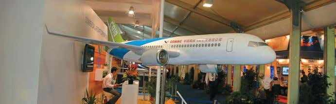 commercial airplanes is the key priority for UAC now. At AeroIndia 2011 the Russian corpo- ration