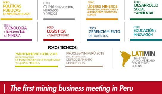 The first mining business meeting in Peru