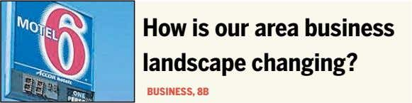 How is our area business landscape changing? BUSINESS, 8B