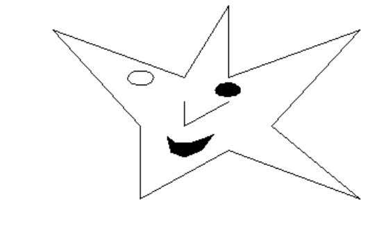 Show[Graphics[{star, nose, mouth, eyeLeft, eyeRight}]]; • Points On peut aussi ajouter quelques points Clear[peas]